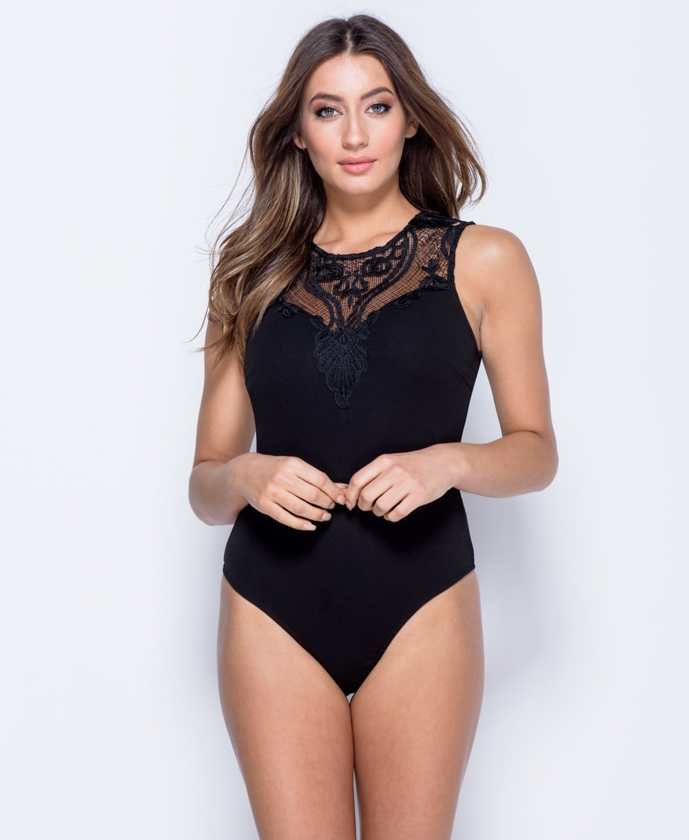5142dd9be8d Tops-Κορμάκια-Μπλούζες | Sexy Κορμάκι ελαστικό με δαντέλα